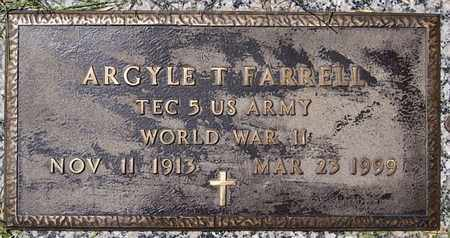 FARRELL, ARGYLE T. (WWII) - Minnehaha County, South Dakota | ARGYLE T. (WWII) FARRELL - South Dakota Gravestone Photos