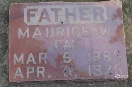 FAY, MAURICE W. - Minnehaha County, South Dakota   MAURICE W. FAY - South Dakota Gravestone Photos