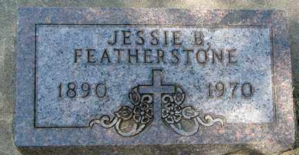 FEATHERSTONE, JESSIE B. - Minnehaha County, South Dakota   JESSIE B. FEATHERSTONE - South Dakota Gravestone Photos