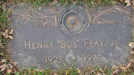 "FEAY, HENRY ""BUS"" JR. - Minnehaha County, South Dakota | HENRY ""BUS"" JR. FEAY - South Dakota Gravestone Photos"