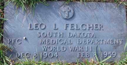FELCHER, LEO L. - Minnehaha County, South Dakota   LEO L. FELCHER - South Dakota Gravestone Photos
