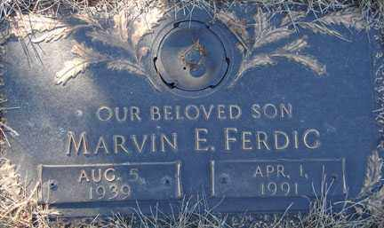 FERDIG, MARVIN E. - Minnehaha County, South Dakota | MARVIN E. FERDIG - South Dakota Gravestone Photos