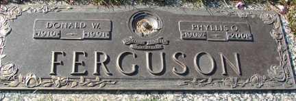 FERGUSON, PHYLLIS O. - Minnehaha County, South Dakota   PHYLLIS O. FERGUSON - South Dakota Gravestone Photos