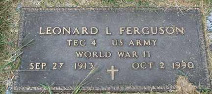 FERGUSON, LEONARD L. (WWII) - Minnehaha County, South Dakota | LEONARD L. (WWII) FERGUSON - South Dakota Gravestone Photos