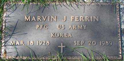 FERRIN, MARVIN J. - Minnehaha County, South Dakota   MARVIN J. FERRIN - South Dakota Gravestone Photos
