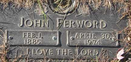 FERWORD, JOHN - Minnehaha County, South Dakota | JOHN FERWORD - South Dakota Gravestone Photos