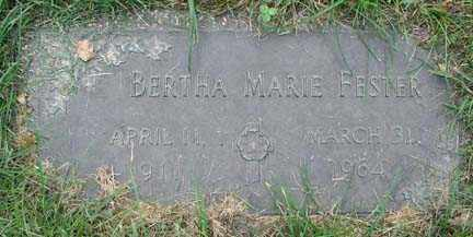 FESTER, BERTHA MARIE - Minnehaha County, South Dakota | BERTHA MARIE FESTER - South Dakota Gravestone Photos