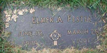 FESTER, ELMER A. - Minnehaha County, South Dakota   ELMER A. FESTER - South Dakota Gravestone Photos