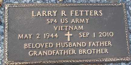 FETTERS, LARRY R. - Minnehaha County, South Dakota | LARRY R. FETTERS - South Dakota Gravestone Photos