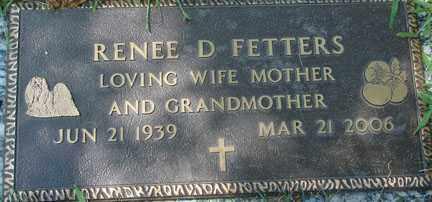 FETTERS, RENEE D. - Minnehaha County, South Dakota | RENEE D. FETTERS - South Dakota Gravestone Photos