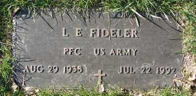 FIDELER, L.E. - Minnehaha County, South Dakota | L.E. FIDELER - South Dakota Gravestone Photos
