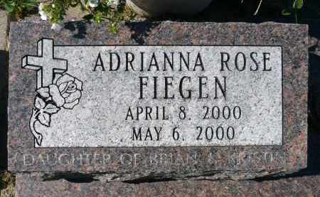 FIEGEN, ADRIANNA ROSE - Minnehaha County, South Dakota | ADRIANNA ROSE FIEGEN - South Dakota Gravestone Photos