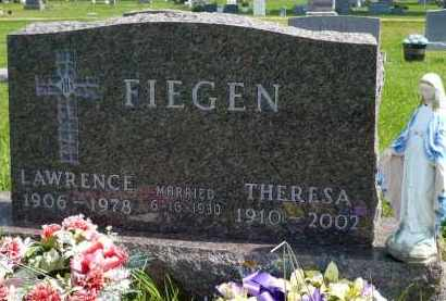 FIEGEN, THERESA JOSEPHINE - Minnehaha County, South Dakota | THERESA JOSEPHINE FIEGEN - South Dakota Gravestone Photos