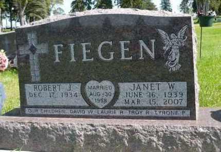 FIEGEN, ROBERT J. - Minnehaha County, South Dakota | ROBERT J. FIEGEN - South Dakota Gravestone Photos