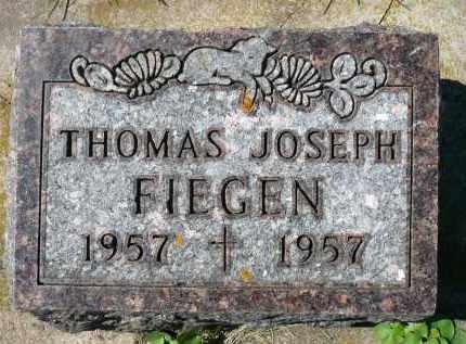 FIEGEN, THOMAS JOESPH - Minnehaha County, South Dakota | THOMAS JOESPH FIEGEN - South Dakota Gravestone Photos