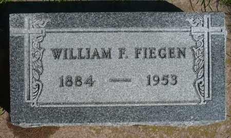 FIEGEN, WILLIAM - Minnehaha County, South Dakota   WILLIAM FIEGEN - South Dakota Gravestone Photos