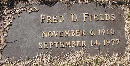 FIELDS, FRED D. - Minnehaha County, South Dakota | FRED D. FIELDS - South Dakota Gravestone Photos