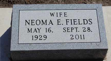 FIELDS, NEOMA E. - Minnehaha County, South Dakota | NEOMA E. FIELDS - South Dakota Gravestone Photos