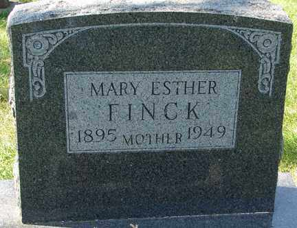 FINCK, MARY ESTHER - Minnehaha County, South Dakota | MARY ESTHER FINCK - South Dakota Gravestone Photos
