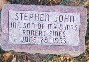 FINES, STEPHEN JOHN - Minnehaha County, South Dakota | STEPHEN JOHN FINES - South Dakota Gravestone Photos