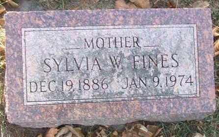FINES, SYLVIA W. - Minnehaha County, South Dakota | SYLVIA W. FINES - South Dakota Gravestone Photos