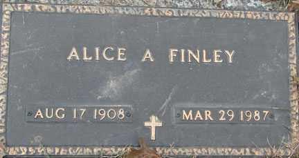 FINLEY, ALICE A. - Minnehaha County, South Dakota   ALICE A. FINLEY - South Dakota Gravestone Photos