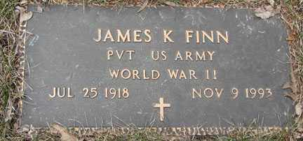 FINN, JAMES K. - Minnehaha County, South Dakota | JAMES K. FINN - South Dakota Gravestone Photos