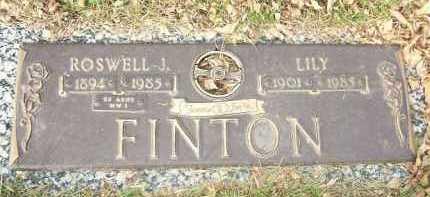FINTON, ROSWELL J. - Minnehaha County, South Dakota | ROSWELL J. FINTON - South Dakota Gravestone Photos