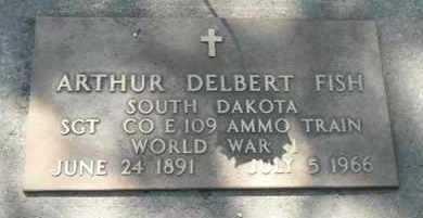 FISH, ARTHUR DELBERT - Minnehaha County, South Dakota   ARTHUR DELBERT FISH - South Dakota Gravestone Photos