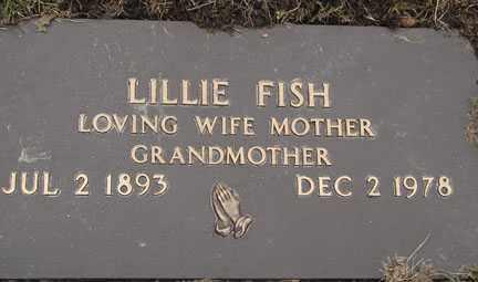 FISH, LILLIE - Minnehaha County, South Dakota | LILLIE FISH - South Dakota Gravestone Photos