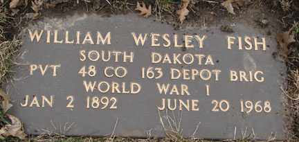 FISH, WILLIAM WESLEY - Minnehaha County, South Dakota | WILLIAM WESLEY FISH - South Dakota Gravestone Photos