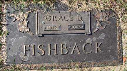 FISHBACK, GRACE D. - Minnehaha County, South Dakota   GRACE D. FISHBACK - South Dakota Gravestone Photos