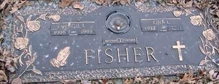 FISHER, VIRGIL L - Minnehaha County, South Dakota   VIRGIL L FISHER - South Dakota Gravestone Photos
