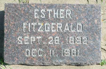 FITZGERALD, ESTHER - Minnehaha County, South Dakota   ESTHER FITZGERALD - South Dakota Gravestone Photos