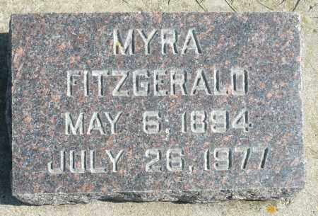 FITZGERALD, MYRA - Minnehaha County, South Dakota | MYRA FITZGERALD - South Dakota Gravestone Photos