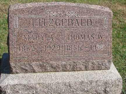 FITZGERALD, MARY A. - Minnehaha County, South Dakota | MARY A. FITZGERALD - South Dakota Gravestone Photos