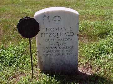 FITZGERALD, THOMAS L. - Minnehaha County, South Dakota   THOMAS L. FITZGERALD - South Dakota Gravestone Photos