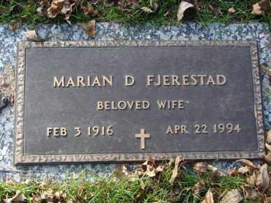 FJERESTAD, MARIAN D. - Minnehaha County, South Dakota | MARIAN D. FJERESTAD - South Dakota Gravestone Photos
