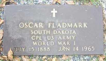 FLADMARK, OSCAR - Minnehaha County, South Dakota | OSCAR FLADMARK - South Dakota Gravestone Photos
