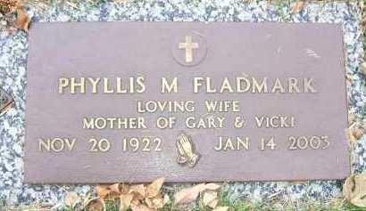 FLADMARK, PHYLLIS M. - Minnehaha County, South Dakota | PHYLLIS M. FLADMARK - South Dakota Gravestone Photos