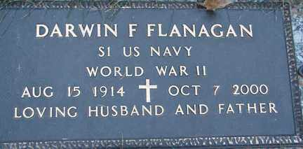 FLANAGAN, DARWIN F. - Minnehaha County, South Dakota | DARWIN F. FLANAGAN - South Dakota Gravestone Photos