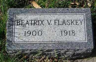 FLASKEY, BEATRIX V. - Minnehaha County, South Dakota | BEATRIX V. FLASKEY - South Dakota Gravestone Photos