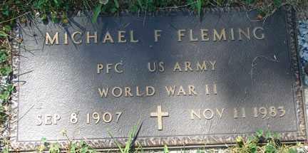 FLEMING, MICHAEL F. - Minnehaha County, South Dakota   MICHAEL F. FLEMING - South Dakota Gravestone Photos