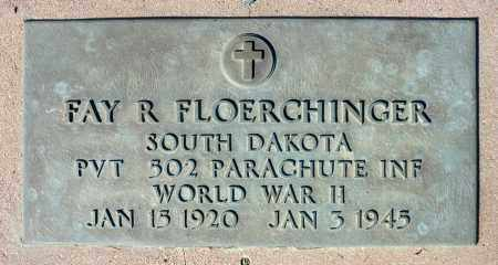 FLOERCHNGER, FAY R. (WWII) - Minnehaha County, South Dakota | FAY R. (WWII) FLOERCHNGER - South Dakota Gravestone Photos