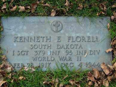 FLORELL, KENNETH E. - Minnehaha County, South Dakota | KENNETH E. FLORELL - South Dakota Gravestone Photos