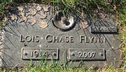 CHASE FLYNN, LOIS - Minnehaha County, South Dakota   LOIS CHASE FLYNN - South Dakota Gravestone Photos