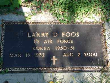 FOOS, LARRY D. - Minnehaha County, South Dakota | LARRY D. FOOS - South Dakota Gravestone Photos