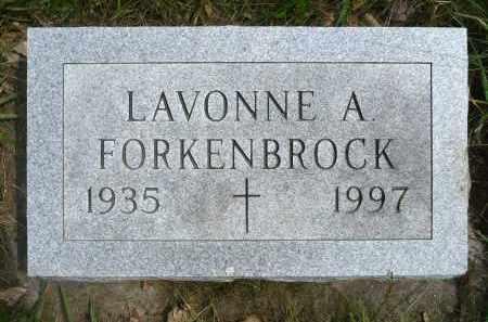 FORKENBROCK, LAVONNE A. - Minnehaha County, South Dakota   LAVONNE A. FORKENBROCK - South Dakota Gravestone Photos