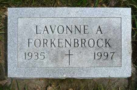 FORKENBROCK, LAVONNE A. - Minnehaha County, South Dakota | LAVONNE A. FORKENBROCK - South Dakota Gravestone Photos