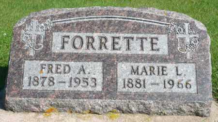 FORRETTE, FRED A. - Minnehaha County, South Dakota | FRED A. FORRETTE - South Dakota Gravestone Photos